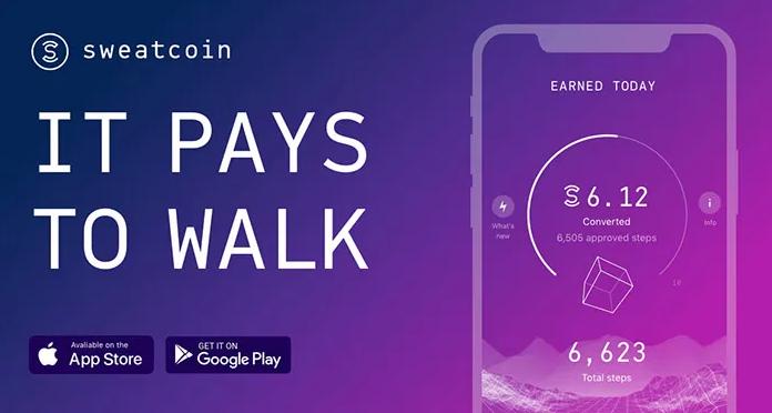 تطبيق المشي بفلوس Sweatcoin للايفون